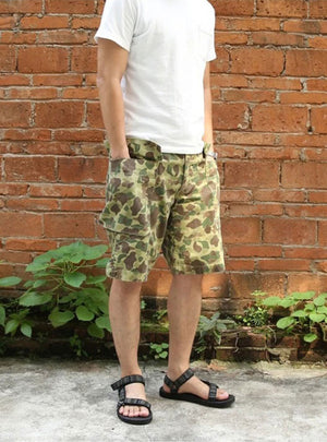 1943 US Army HBT Duck Hunter Camo Shorts