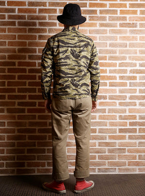 Vietnam War Golden Tiger Camouflage Long Sleeve Uniform Style Shirt