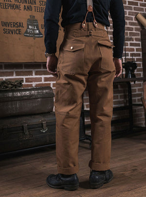 1930'S Boss of The Road Heavy Duty Double Knees Duck Canvas Hunting Pants