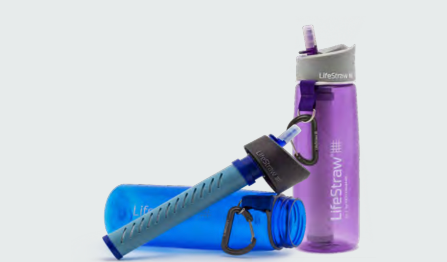 Life Straw 2-Stage Go Bottle 2-pack Water Filter (Blue & Purple)