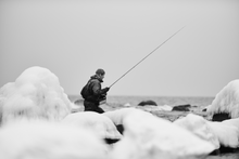 Load image into Gallery viewer, Winter Coastal Trout Hunter - BW