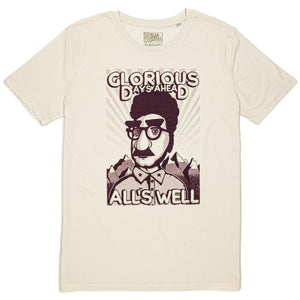 All's Well propaganda t-shirt hand printed 100% organic cotton t-shirt