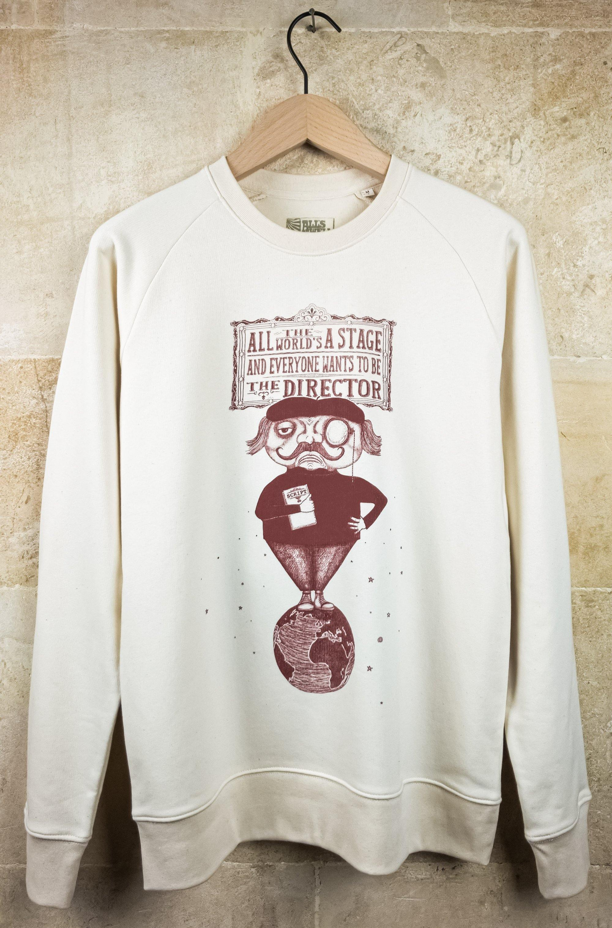The Director show business sweatshirt hand printed organic cotton sweatshirt