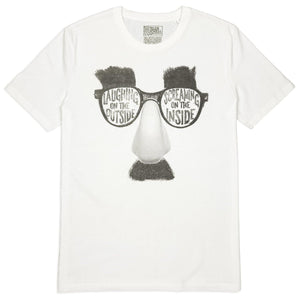 Groucho comedy t-shirt hand printed 100% organic cotton t-shirt