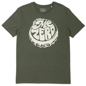 Me Zero bottle cap t-shirt hand printed 100% organic cotton t-shirt