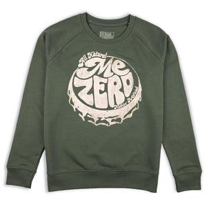 Me Zero bottle cap sweatshirt hand printed 100% organic cotton sweatshirt