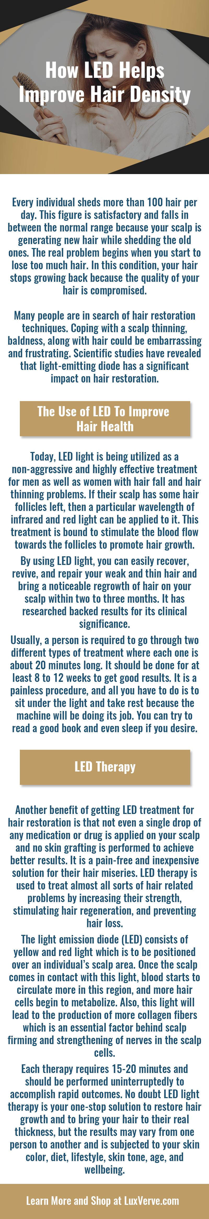 LED Laser Therapy for Hair Loss