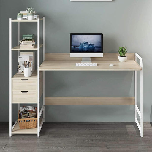 Large Wood Computer Desk - LuxVerve