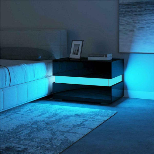 RGB LED Bedroom Nightstand Coffee Table - LuxVerve
