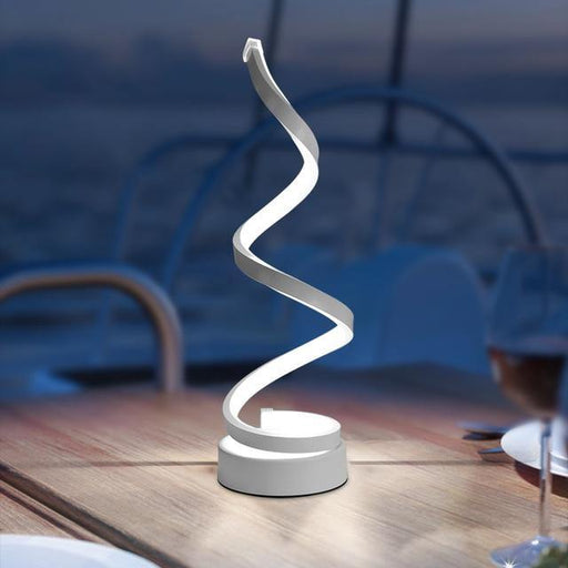 Modern LED Spiral Table Lamp - LuxVerve