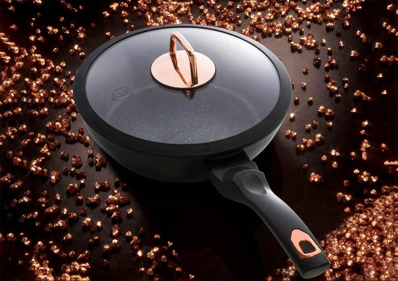 Deep Frypan Non-Stick with Soft Touch Handle by Berlinger Haus