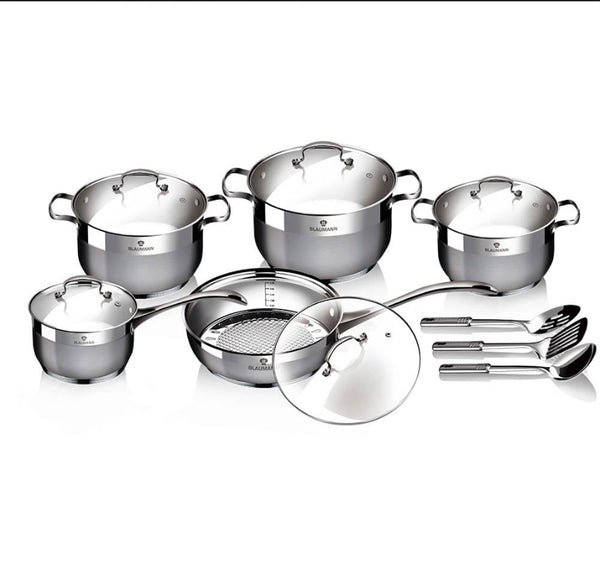 Berlinger Haus 13 pcs cookware set, Satin Finish, Gourmet Line