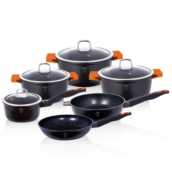Berlinger Haus 10 pcs Cookware Set Granit Diamond Line Full Induction