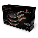 Berlinger Haus 3 pcs Frypan Set, Rose Gold Collection