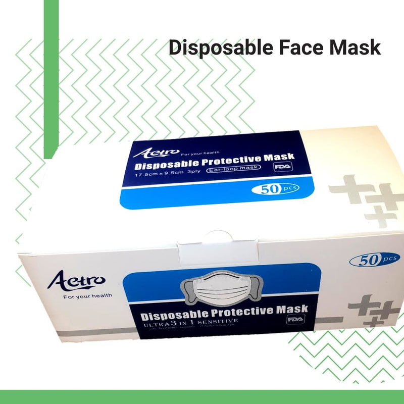 Face Masks, Disposable Face Masks (50p/pack)