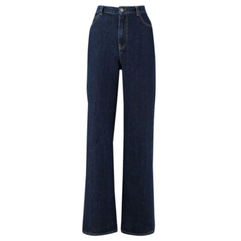 Midnight Blue Wide Leg High Rise Jeans