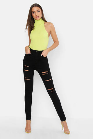 Distress Black Skinny Jeans