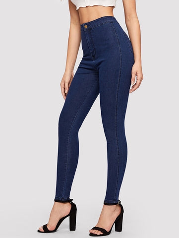 Super Skinny Ink Blue High Waist Denims