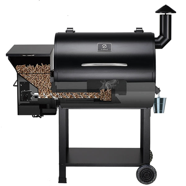 Z GRILLS-7002B TWO PIECES SET 8 IN 1 WOOD PELLET GRILL & SMOKER