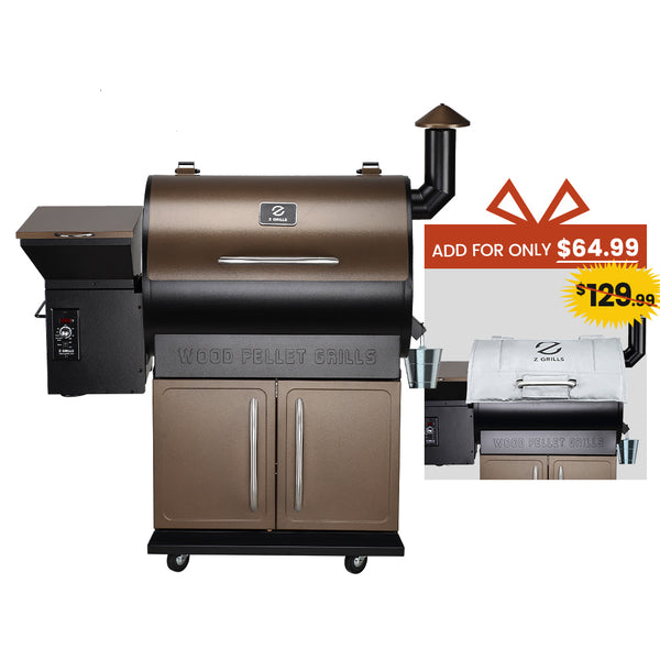 Z GRILLS-700D 8 in 1 WOOD PELLET GRILL & SMOKER