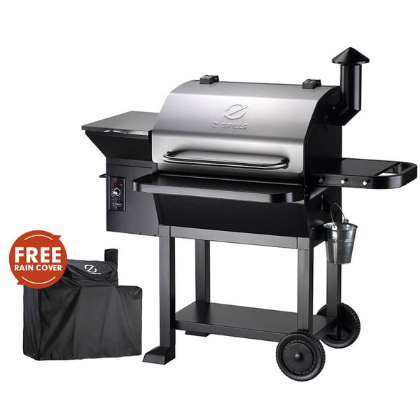 NEW ARRIVAL ZPG-10002E 8 IN 1 WOOD PELLET GRILL & SMOKER