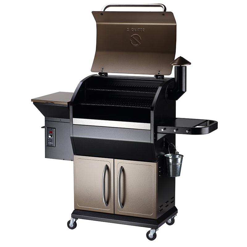 NEW ARRIVAL ZPG-1000D 8 IN 1 WOOD PELLET GRILL & SMOKER