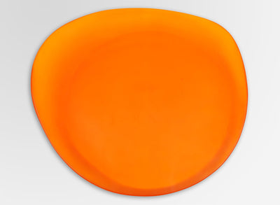 Large Resin Modern Tribal Platter - Orange