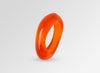 Large Resin Irregular Bangle - Orange