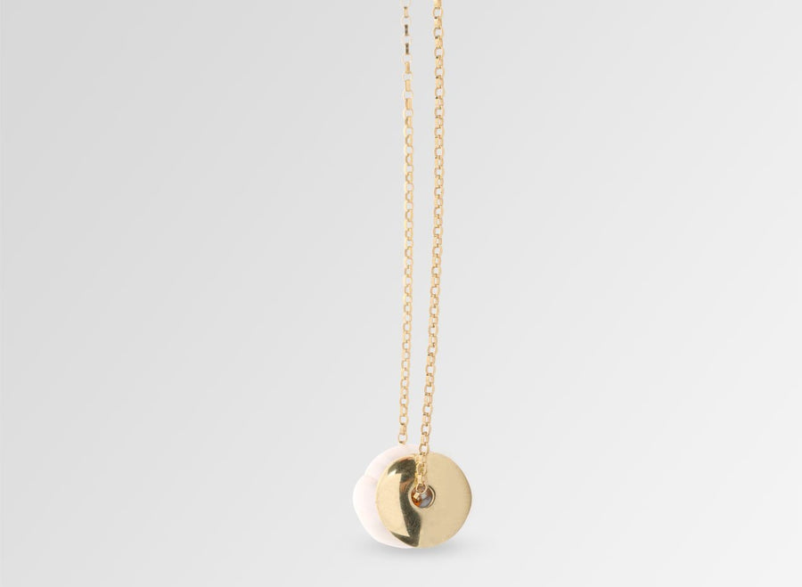 Pearl Pendant on Chain - Gold