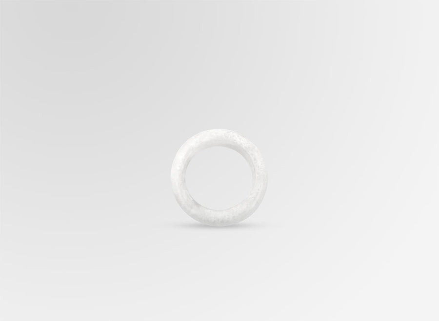 Resin Modern Tribal Band Ring - Snow Swirl