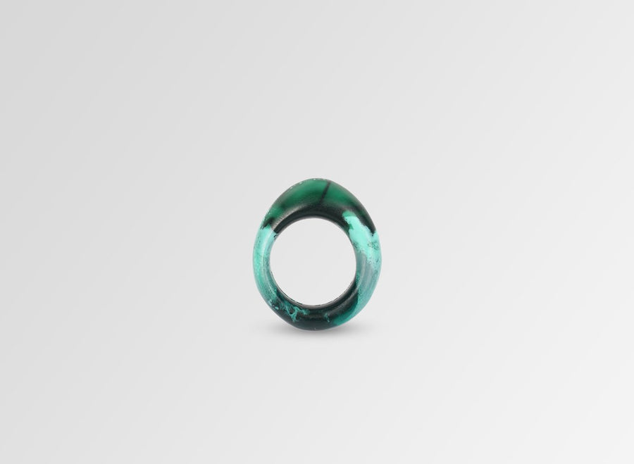 Resin Slate Ring - Forest