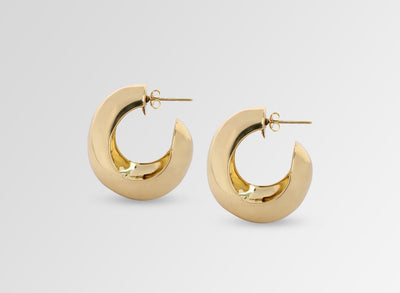 Louise Olsen X ALEX AND TRAHANAS Large Chifferi Hoop Earrings - Brass