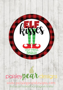 Elf Kisses - Christmas Treat Tags