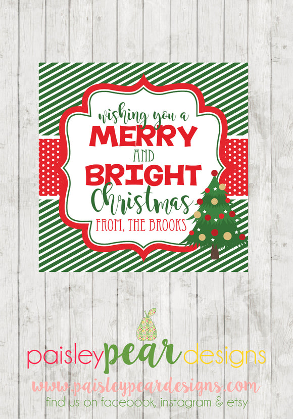 Merry & Bright - Christmas Treat Tags