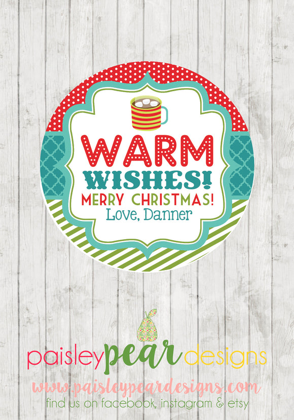 Warmest Wishes - Christmas Treat Tags