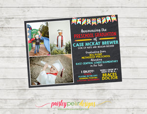 Preschool Graduation - Graduation Announcement