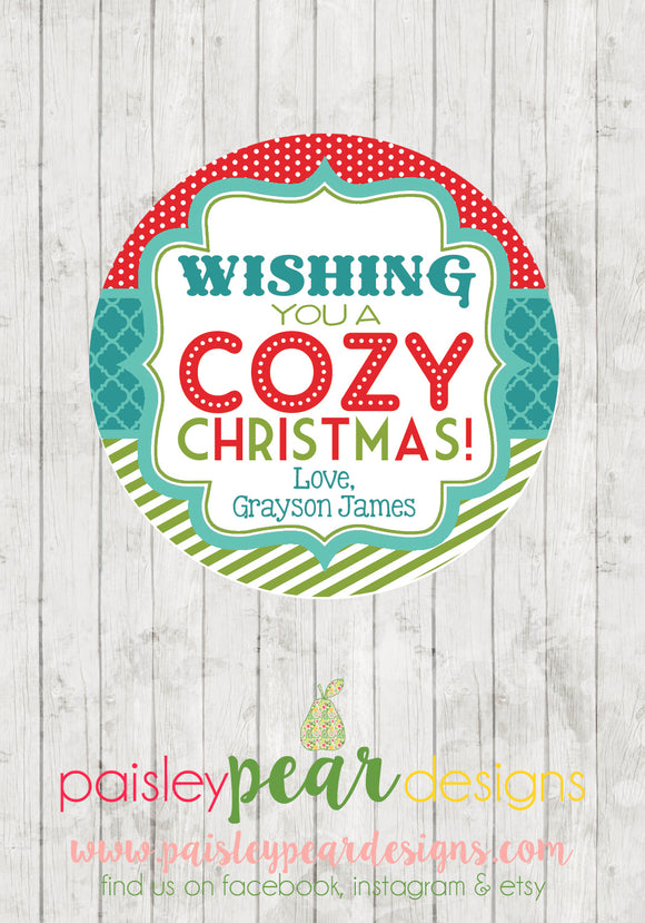 Cozy Christmas - Christmas Treat Tags