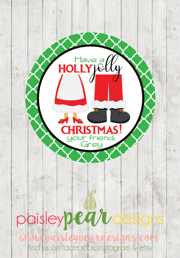 Holly Jolly Christmas - Christmas Treat Tags