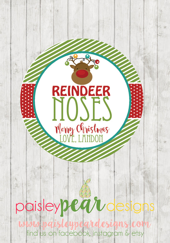 Reindeer Noses - Christmas Treat Tags