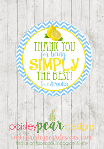 Simply Best - Teacher Appreciation Tags