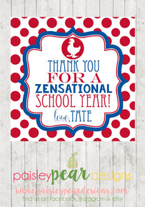 Zensational (Zaxbys) - Best Teacher Tag