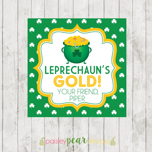 Leprechauns Gold Tag - St. Patrick's Day