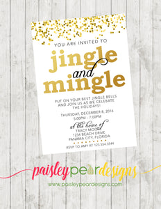 Jingle and Mingle - Christmas Party Invitation