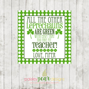 Green with Envy Teacher - St. Patrick's Day