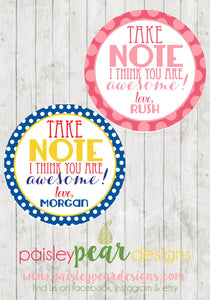 Take Note - Teacher Appreciation Tags