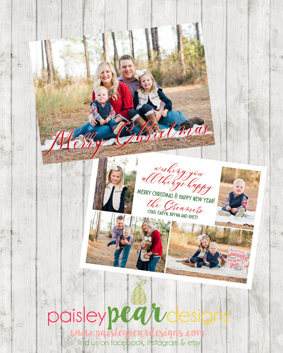 All Things Christmas - Christmas Photo Card