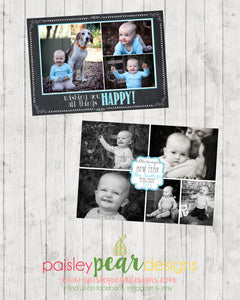 All Things Happy Christmas and New Year Card - Christmas Photo Card