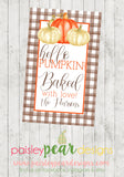 Baked with Love - Hello Pumpkin - Fall Tag