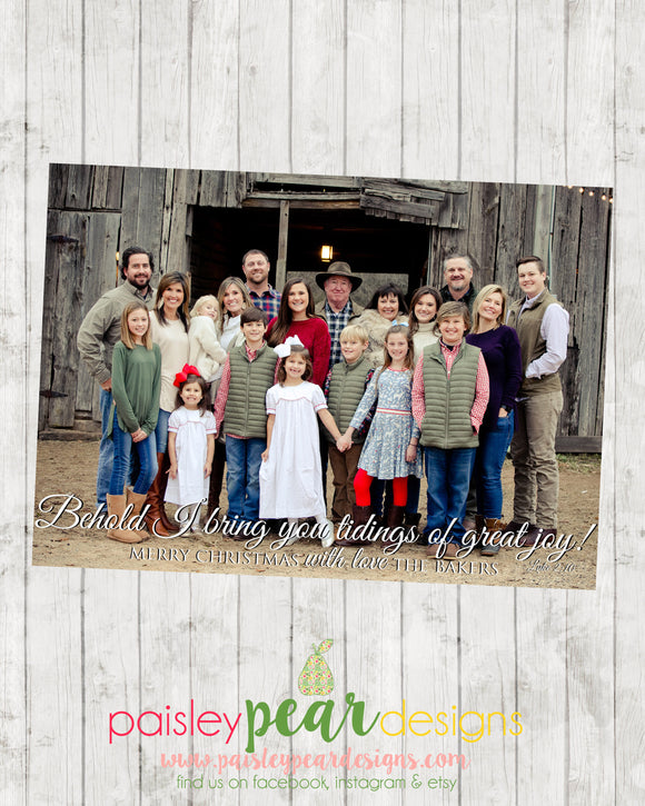 Behold - Christmas Photo Card