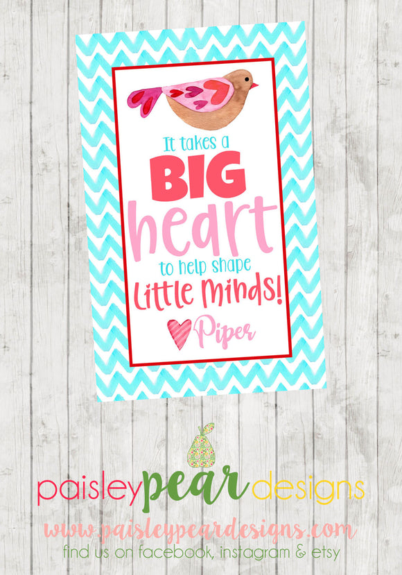 Big Heart - Teacher Tag
